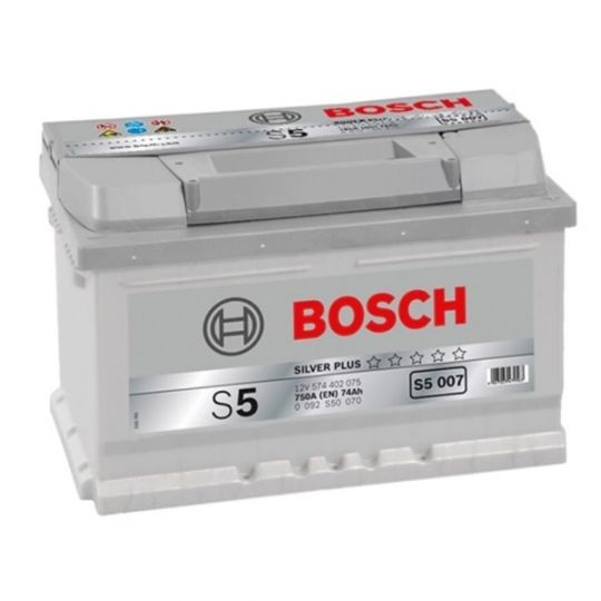 Автомобильный аккумулятор АКБ BOSCH (БОШ) S5 007 / 574 402 075 S5 Silver Plus 74Ач о.п.