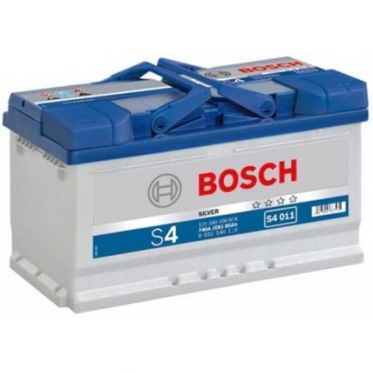 Автомобильный аккумулятор АКБ BOSCH (БОШ) S4 011 / 580 400 074 S4 Silver 80Ач о.п.
