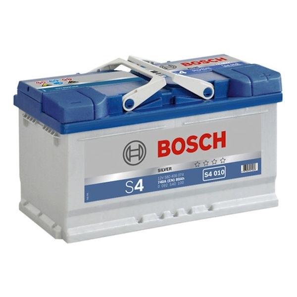 Автомобильный аккумулятор АКБ BOSCH (БОШ) S4 010 / 580 406 074 S4 Silver 80Ач о.п.
