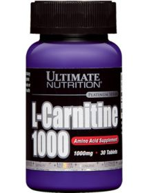 Ultimate Nutrition L-carnitine 1000 mg (30 табл.)
