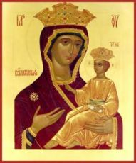 Всеблаженная икона Божией Матери (рукописная)