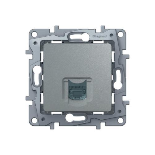 Розетка Etika RJ45 6 UTP 672453 алюминий