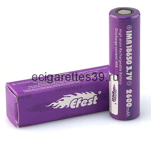 Аккумулятор IMR 18650 Efest V1 2600 mah 40A