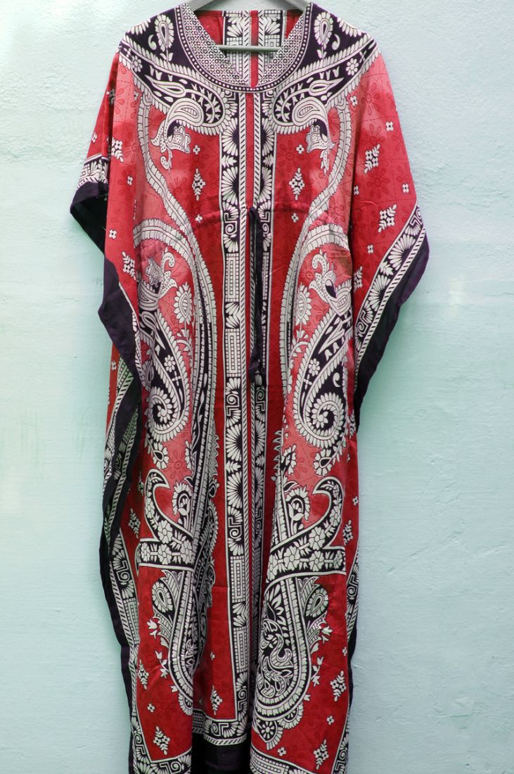 Красное платье для дома и отдыха (отправка из Индии)