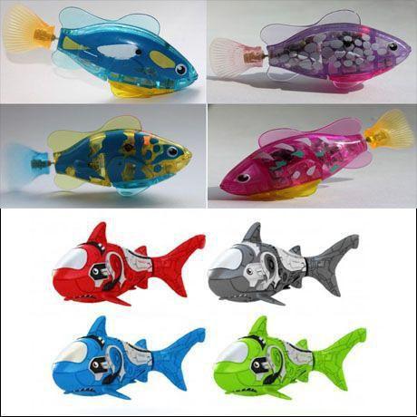 Полный комплект рыбок-роботов  8 шт
