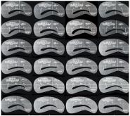 Трафареты для бровей 24 шт различной формы