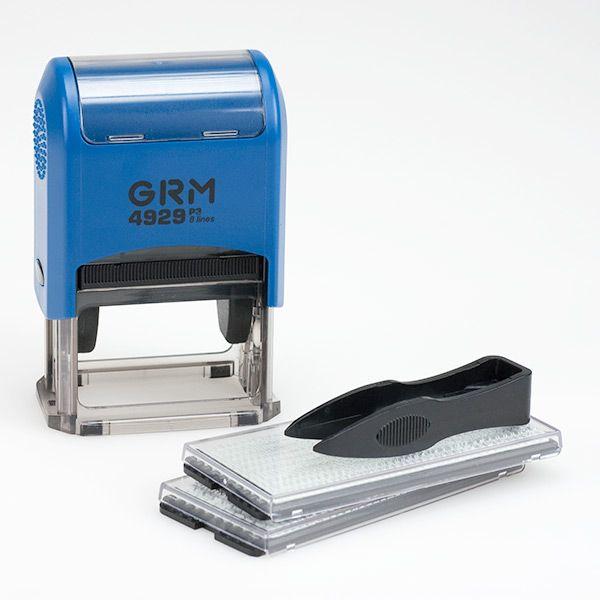 Самонаборный штамп 6 строк, 50х30 мм