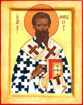 Икона Амвросий Медиоланский (рукописная)