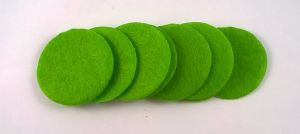 Фетровый пяточек 30мм, 1уп = 200шт, цвет: светло-зеленый