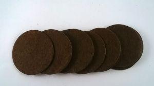 Фетровый пяточек 30мм, 1уп = 200шт, цвет: коричневый