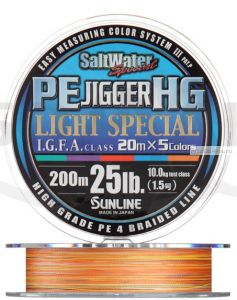 Плетеная леска SUNLINE PE Jigger HG Light 200м