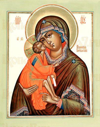 Донская икона Божией Матери (рукописная)