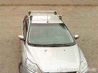 Багажник на крышу Ford Focus 2, Атлант, прямоугольные дуги