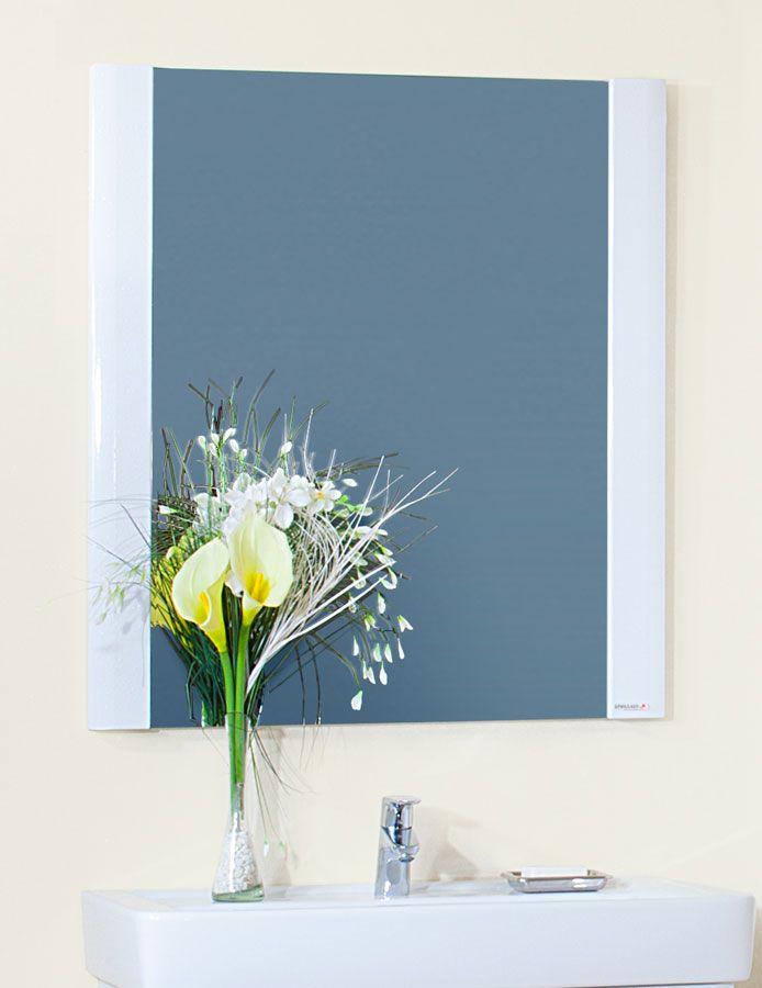 Зеркало Бриклаер Аквавита 60, 3D, белый глянец