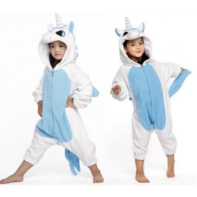 Пижама Кигуруми Детская Единорог Голубой_01