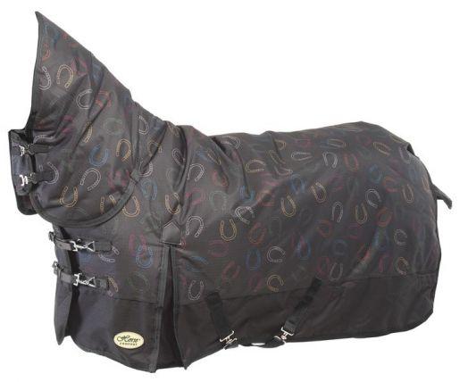 """САМАЯ ТЕПЛАЯ Непромокаемая попона с полной шеей """"Horse Comfort"""" на утеплителе 300 г/м"""