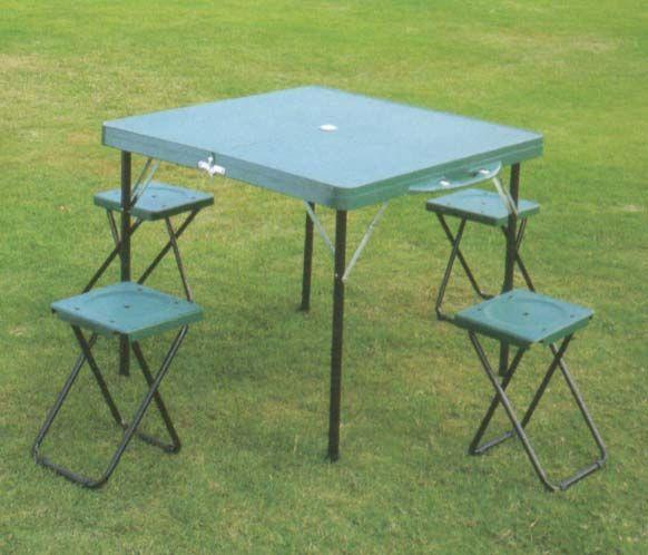 Набор мебели туристической (стол+4табурета) HXT-8833