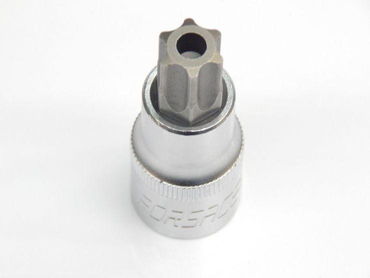 1/2' головка бита торкс T60H (55ммL) с отверстием