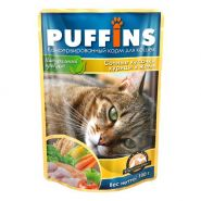 PUFFINS Для кошек Курица в соусе (100 г)