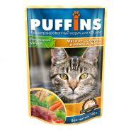 PUFFINS Для кошек Мясное ассорти в желе (100 г)