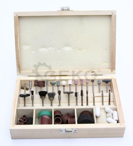 Комплект насадок для обработки металла, древесины и пластика (100пр.) 'Geko'