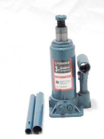 Домкрат бутылочный  3 т с клапаном (h min 194мм, h max 372мм)