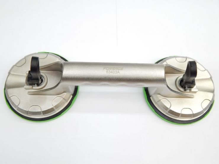 Съемник стекол двухзажимной (присоска) диам. 123мм-60кг (алюм.)
