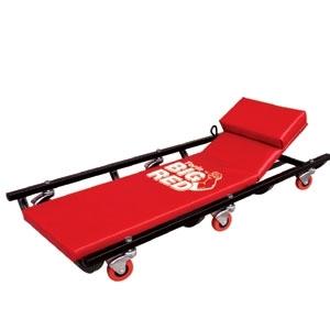 Лежак ремонтный подкатной на 6-ти колесах с регулировкой
