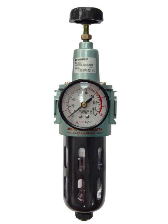 Фильтр тонкой очистки 5Мк с регулятором и манометром для  пневмосистем 1/4'