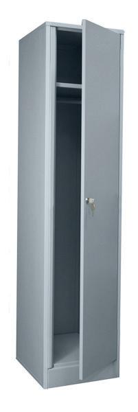 Шкаф гардеробный ( основной ) ШМ-1М-400 Размеры: (ШхВхГ) 400х1800х500 мм. Используется и как отдельный шкаф, и как основная секция для установки шкафов в одну монолитную линию