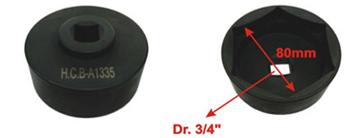 Головка для снятия верхней крышки шкворня для Volvo FM12 (3/4', 6-гран., 80мм)