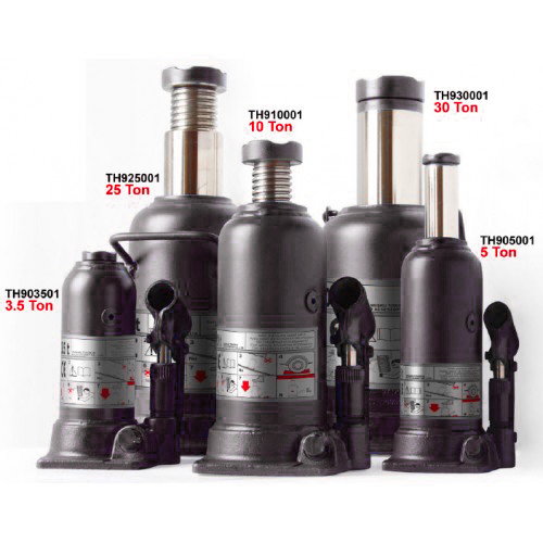 Домкрат бутылочный 15т профи (h min 231мм, h max 498мм)