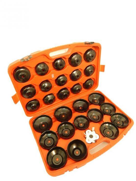 Набор съемников масляного фильтра 30пр. (крышка) в пластиковом кейсе