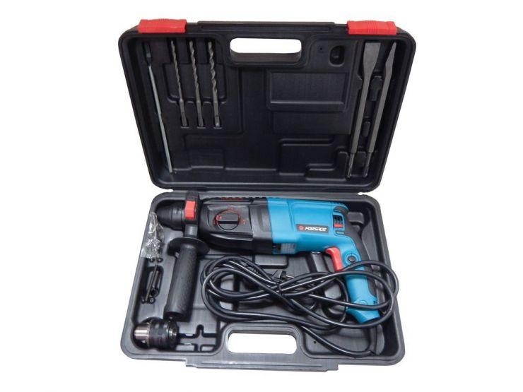 Перфоратор (980 W, SDS, 0-1100 об/мин, ф 4-26 мм, шнур 3м) с комплектом насадок + патрон