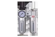 Блок подготовки воздуха (фильтр тонкой очистки + регулятор + маслодобавитель) 1/2' Пропускная способность 1100 л/мин