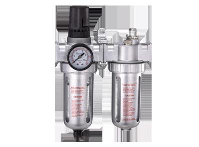 Блок подготовки воздуха (фильтр тонкой очистки + регулятор + маслодобавитель) 3/4' Пропускная способность 4600 л/мин