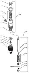 18855 ремкомплект нижних прокладок насоса Excalibur