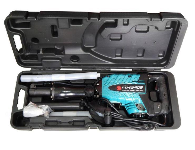 Отбойный молоток ручной электрический в кейсе (220В, 1600Вт, 1400 уд/мин, патрон Hex)