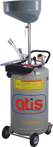 Вакуумная установка для маслозамены через щупы со сливной воронкой. Емкость бака.80л. Давление вакуума 8-10 Bar. Макс. давление откачки 1 Bar. Скорость откачки 6,5л./мин. Емкость сливной воронки 20л. 6 щупов.