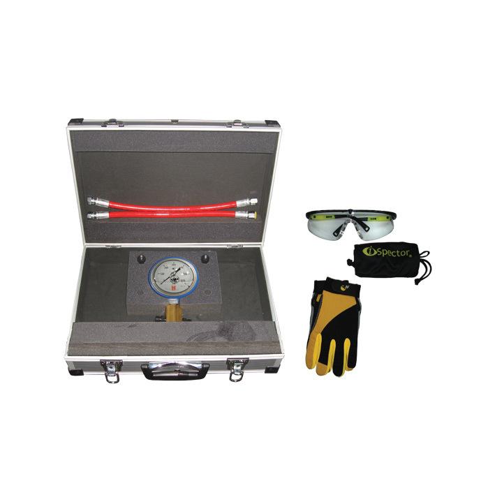 SMC-1005/600GПредназначен для проверки клапанов на герметичность в штуцерах напорной магистрали ТНВД с максимально развиваемым давлением 600 Bar. Оснащен высококачественным манометром, диаметром 100  мм в защитном кожухе с гелевым наполнителем. Корпус ман
