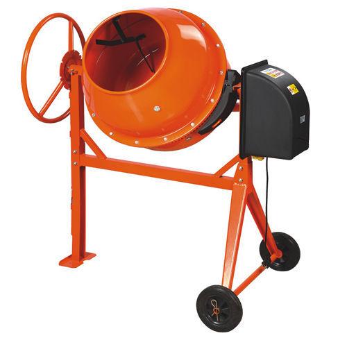 Бетономешалка электрическая (220В, 600Вт, объем барабана  130л)