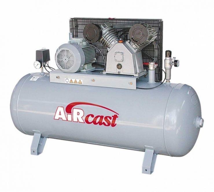 компрессор поршневой 880 л/мин, 10 бар, 5.5 кВт. 380 В, ресивер 270 л.