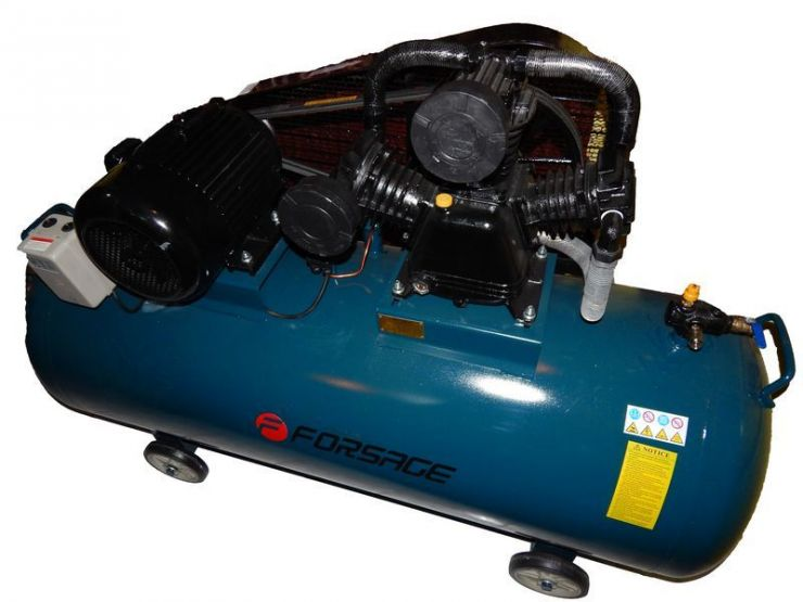 Компрессор 500л 3-х поршневой с ременным приводом  (7.5кВт, ресивер 500л, 750л/м, 380В)