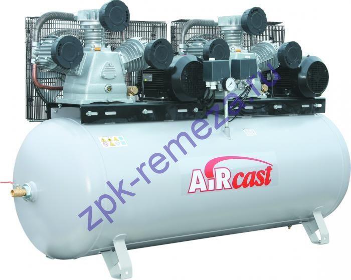 компрессор поршневой 1900 л/мин, 10 бар, 5.5 кВт 5.5 кВт. 380 В, ресивер 500 л., тандем без пульта