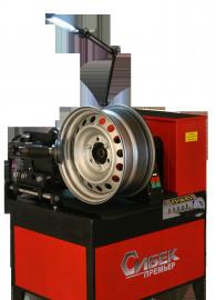 Стенд для правки дисков 'Премьер - Гидравлик'                               (электрический стенд 380В с гидроприводом и ручным управлением для прокатки стальных дисков)