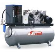 компрессор поршневой 690 л/мин, 10 бар, 4 кВт. 380 В, ресивер 500 л., с осушителем холодильного типа
