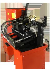 Стенд для правки дисков 'Премьер - Альфа - Гидравлик'                      (универсальный электрогидравлический стенд 380В  для легкосплавных и стальных штампованных дисков с гидравлическим приводом роликов прокатки)