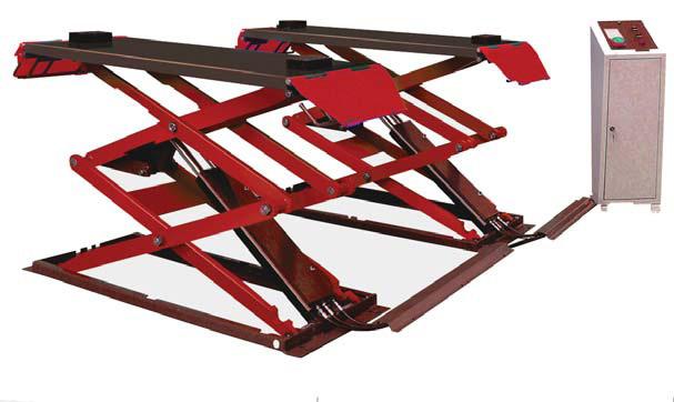 Ножничный напольный подъемник, грузоподъемность 3.0 тн., высота подъема 1850мм., двойные ножницы короткая платформа 1608-2028мм.