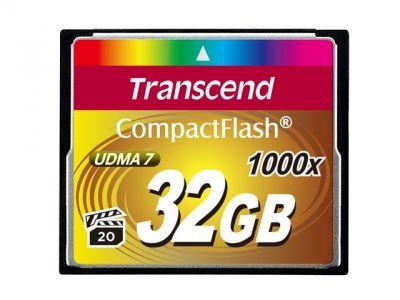 32GB карта памяти CF Transcend Ultra Speed 1000X