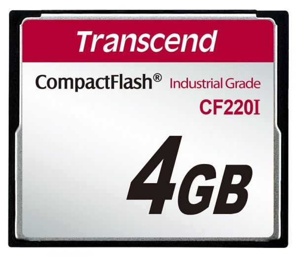 4GB Карта памяти Transcend Compact Flash 220x Industrial